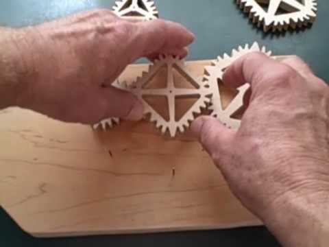 Gears in all kinds of shapes: square, oval, pentagonal, organic and more