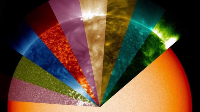 Jewel Box Sun: Invisible wavelengths of light translated into colors