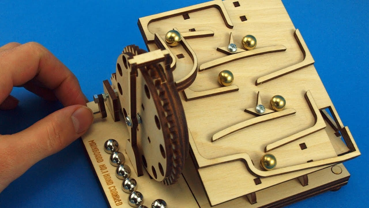 Laser Cut Flat Packed Wood Diy Modular Marble Machine Kits The Kid Should See This