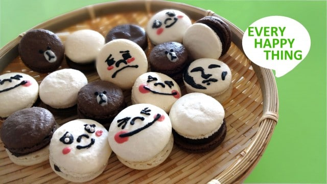 Every Happy Thing: Cute Macaron Faces