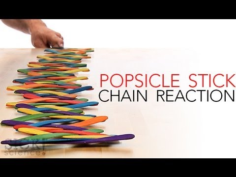 How to make a Popsicle Stick Chain Reaction