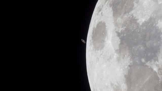 Moon Saturn Occultation – 14 May 2014