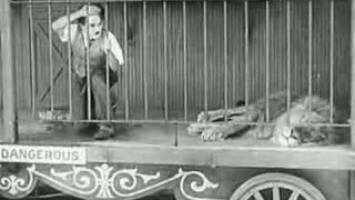 Charlie Chaplin in the lion's cage: The Circus (1928)