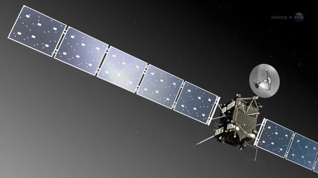 Landing on a comet with Rosetta Spacecraft