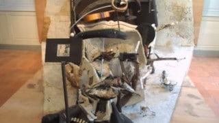 Bernard Pras' anamorphic portrait of Ferdinand Cheval