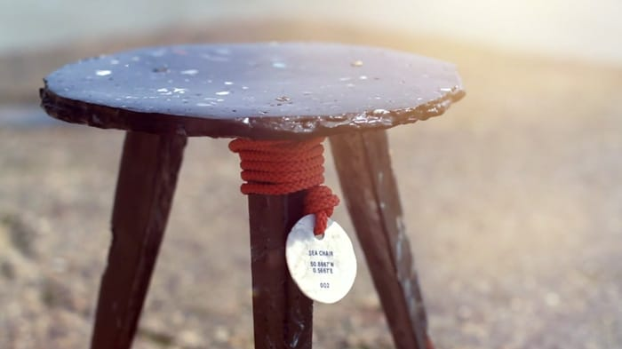 Attractive Sea Chair: Making A Stool From Plastic Debris Found In The Open Sea Amazing Pictures