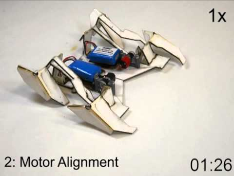 Self-Folding Crawler: A Transformer-style Origami Robot