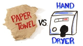 AsapSCIENCE: Paper Towel vs Hand Dryers