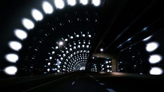 Tokyo roads transform into dazzling tunnels of light