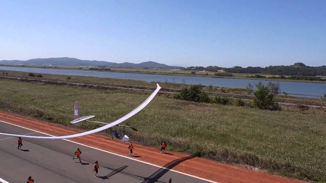 A human-powered aircraft competition in South Korea