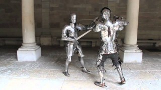 Combat demonstrations in fifteenth century suits of armor
