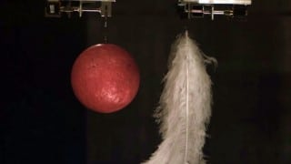The Hammer-Feather Drop in the world's biggest vacuum chamber