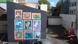 Painting a Siggi Eggertsson mural for the Iceland Design Centre