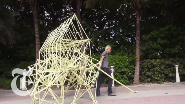 The Beach Walker: Theo Jansen brings Strandbeests to Art Basel