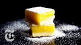 Lemon bars with olive oil and sea salt