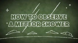 Cal Academy: How to Observe a Meteor Shower