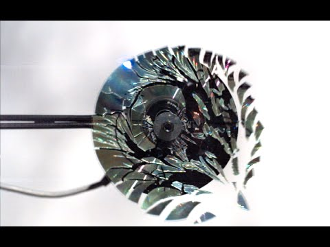 CD shattering at 170,000 frames per second –The Slow Mo Guys