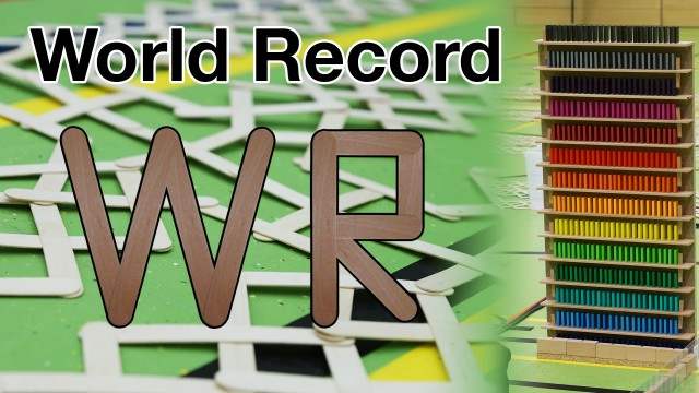 Guinness World Record – The largest popsicle stick chain reaction