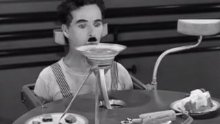 Charlie Chaplin & the Billows Feeding Machine: Modern Times (1936)
