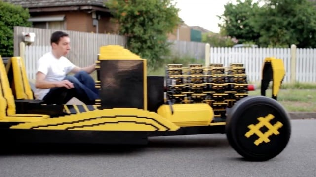 Driving on Air: Inventor Raul Oaida and his LEGO car