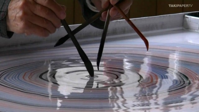 The art of suminagashi or Japanese paper marbling