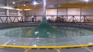 Demo of the FloWave Ocean Simulator & the AMOEBA wave pool