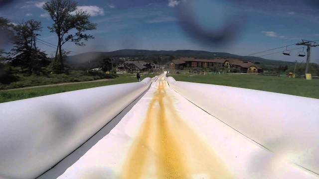 The world's longest inflatable waterslide is 1/3 of a mile long