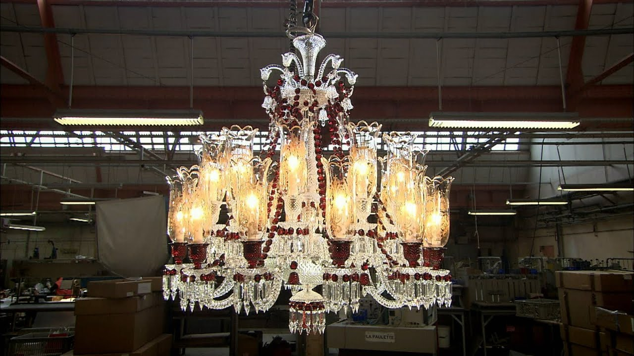 How the Baccarat crystal studio makes a blown crystal chandelier