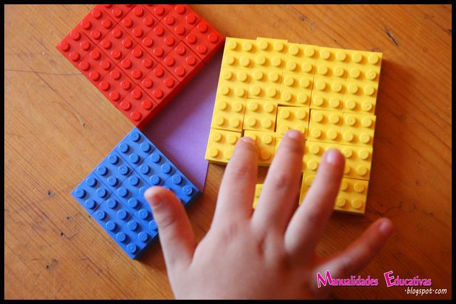 Pythagorean-theorem-LEGO