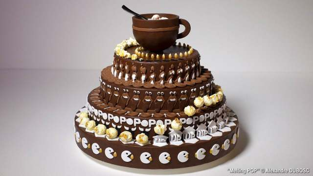 Animated chocolate cake zoetropes by Alexandre Dubosc
