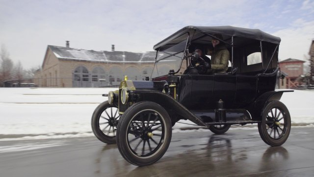 Driving a Ford Model T at the Henry Ford Museum