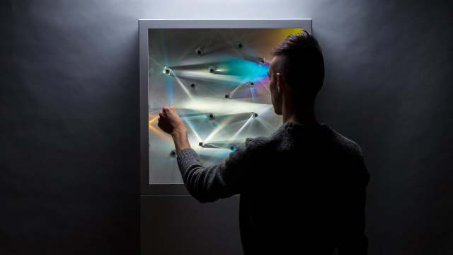 LENSES, an interactive light & sound installation by Hush Studios