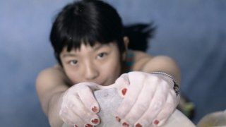 Ashima Shiraishi, one of the best rock climbers in the world