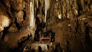 The Great Stalacpipe Organ deep in Luray Caverns