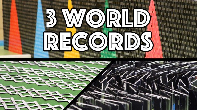 3 Guinness World Records – Disc Cases, Stick Bomb, & Domino Wall