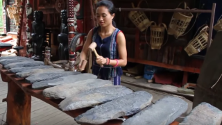 Melodious stone instruments called lithophones