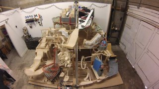 Marble Mountain, a huge themed marble machine in progress
