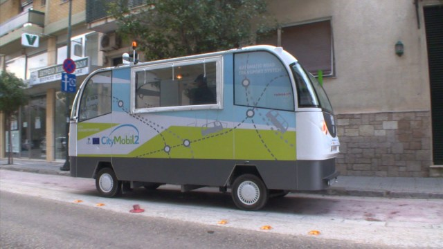 Hop aboard this driverless bus
