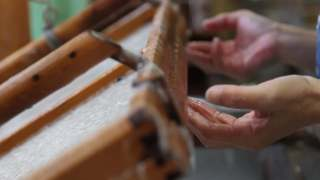Making of Japanese handmade paper of Kyoto Kurotani