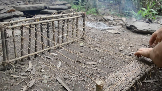 Woven bark fiber – Primitive Technology