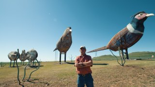 The giant sculptures along North Dakota's Enchanted Highway