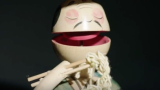 Wooden toys by 80-year-old Japanese toymaker Masaaki Hiroi