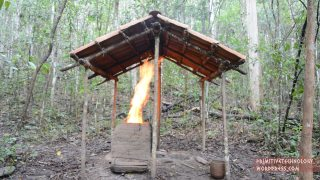 Barrel Tiled Shed & Tiled Roof Hut – Primitive Technology