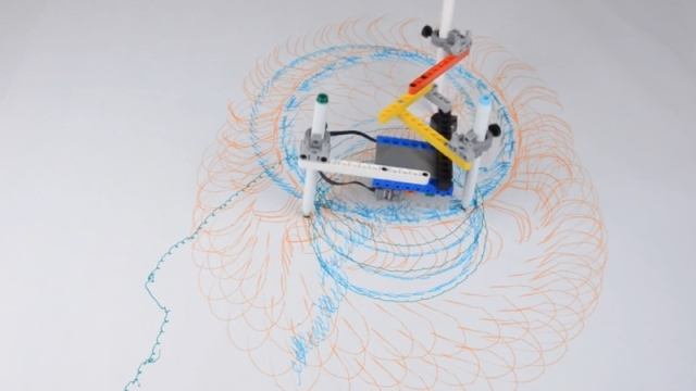 Building Art Machines with LEGO Technic pieces
