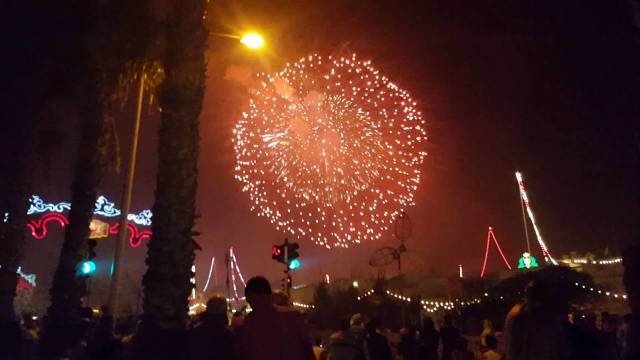 A record-breaking firework ball explodes over Zurrieq, Malta