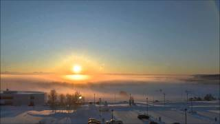 A winter solstice time lapse in Fairbanks, Alaska