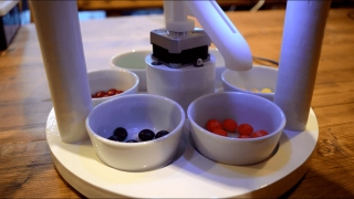 A 3D-printed candy sorting machine