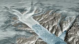 Water in Helheim Glacier Makes Its Way to the Ocean