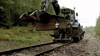 How to replace railway ties without pulling up the rails