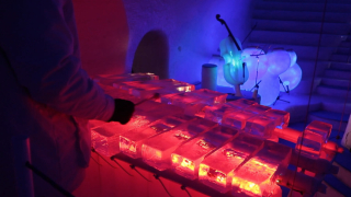 Ice music made on hand-carved ice instruments